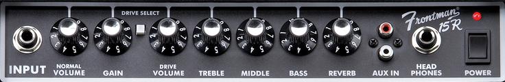 Panneau du Fender Frontman 15R