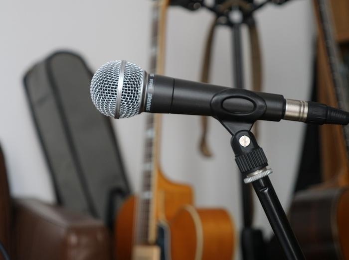 Le SM58 de Shure : il y a mieux pour enregistrer une guitare acoustique