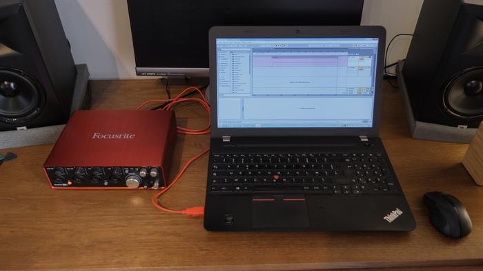 Mon matériel de captation audio, sans micro branché
