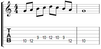 Mélodie en Sol majeur (début corde de La)