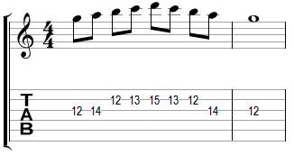 Mélodie en Sol majeur (début corde de Sol)