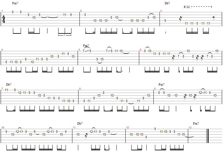 Improvisation sur Fm7 Db7