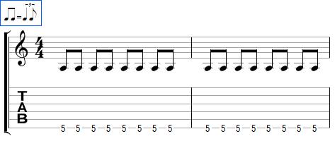 Des croches jouées shuffle