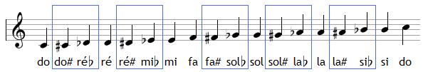 Les 12 notes avec les enharmonies
