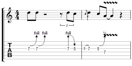 Phrase Blues avec effets (4)