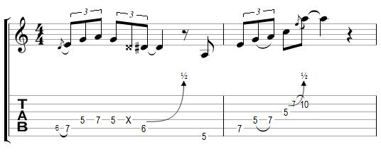 Phrase Blues avec effets (6)