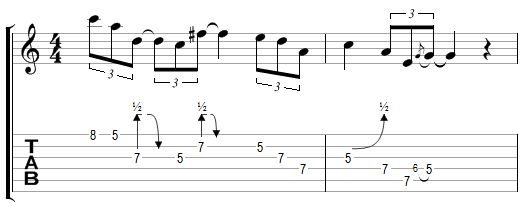 Phrase Blues avec effets (7)