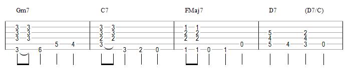 Gm7 C7 FMaj7 D7 (anatole)