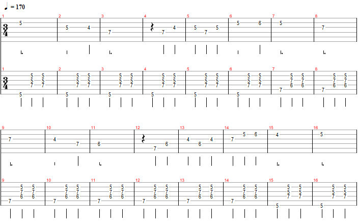 Valse : tablature