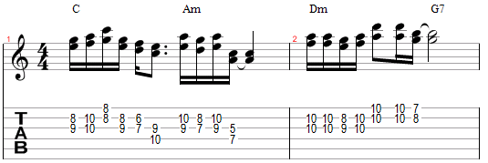 Mélodie harmonisée différement à la tierce supérieure