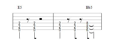 Riff avec relancer sur Bb5