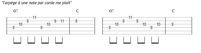 Variations : idée d'une note par corde