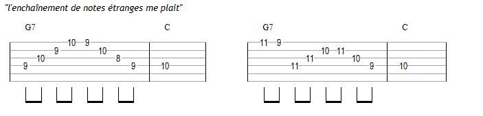 Variations : idée des notes dissonantes