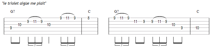 Variations : idée du triolet aigüe