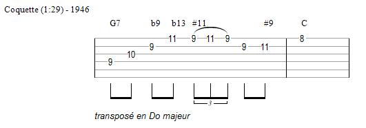 Un plan de Django sur Coquette (transposé en Do majeur)