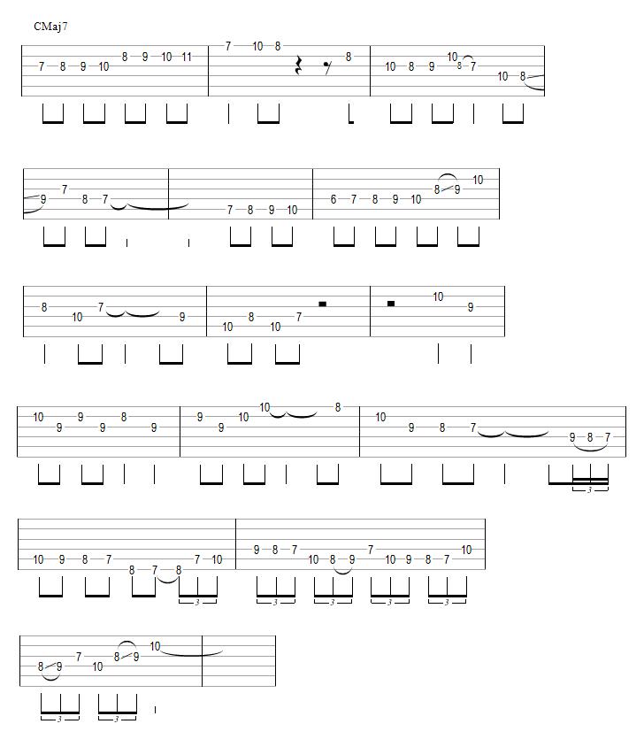 Relevé de l'improvisation (chromatismes)