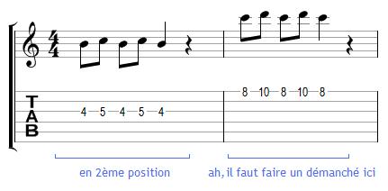 Démanché dans une mélodie