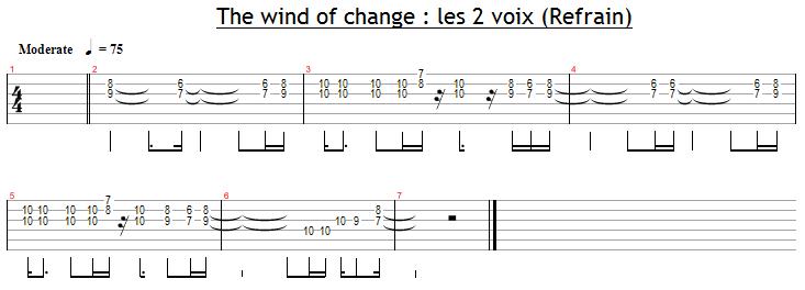 Les deux voix dans le refrain de Wind Of Change