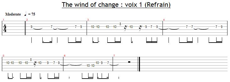 La voix 1 dans le refrain de Wind Of Change
