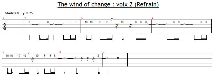 La voix 2 dans le refrain de Wind Of Change
